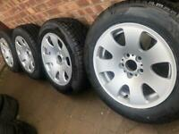 "New 17"" VW Transporter T5 T6 alloy wheels +NEW Pirelli winter tyres Monoblock BMW X3 5x120 CAN POST"