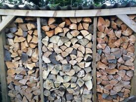 Dry seasoned logs