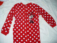 Disney Minnie Mouse warm fleece onesie with zip for 7-8 years. Excellent condition!