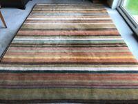 Multi coloured wool rug