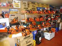 SELECTION NEW AND USED CHAINSAWS OVER 40 IN STOCK