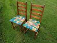 2 solid wood chairs in very good condition - can deliver