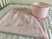 Laura Ashley curtains and lamp shade