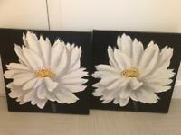 Two matching floral canvas from next