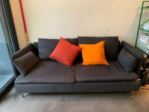 DARK GREY 3 SEAT SOFA