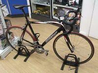Claud Butler Torino full 12k carbon fibre weave road bike