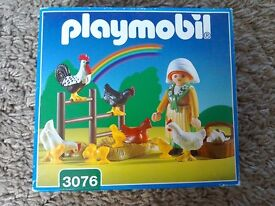 Playmobil set lady with chickens 3076