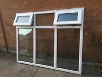 PVC double glazed window 187cm x 147cm