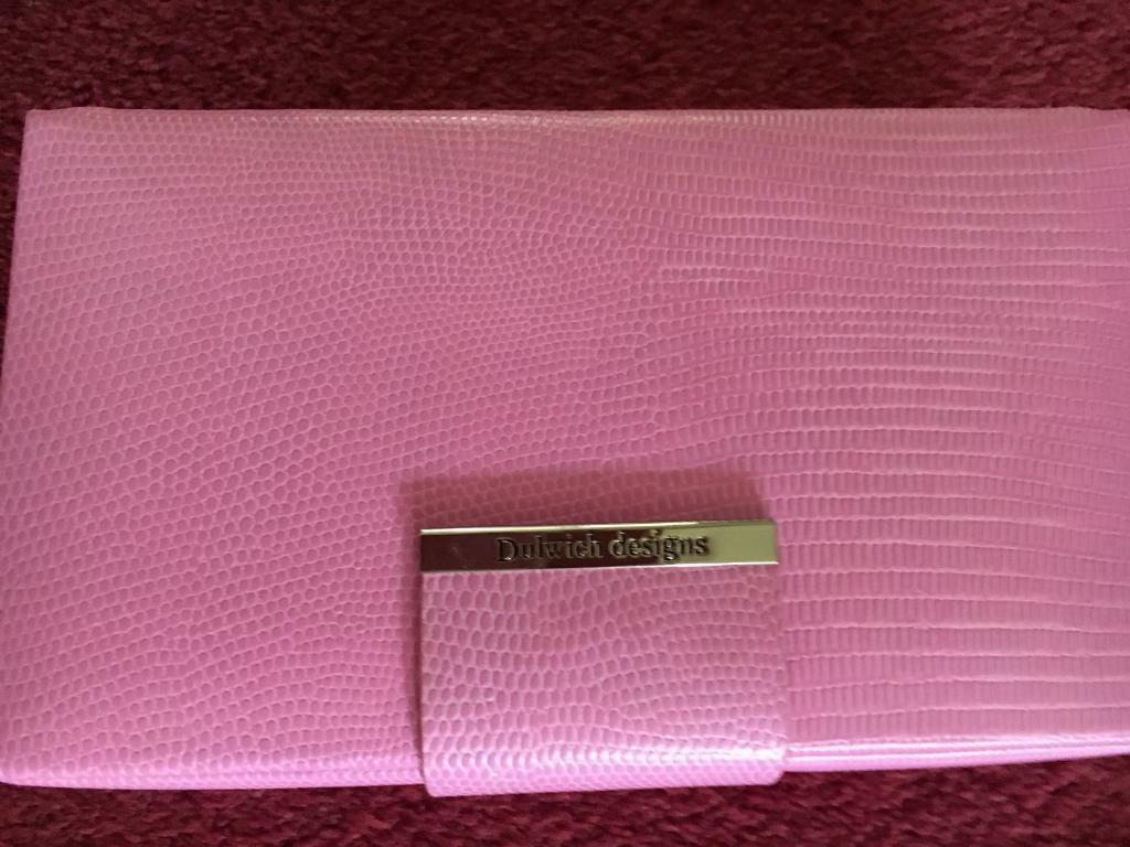 Pink leather Jewellery box