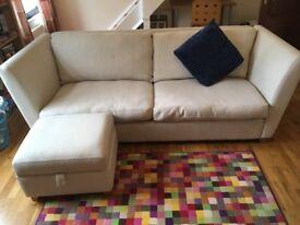 4 Seat Sofa & Footstool