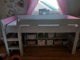 Lovely mid sleeper with matching shelves underneath
