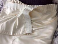 Windsor style Ivory Satin Curtains