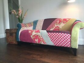 DFS Yell Shout midi sofa patchwork two seater one year old