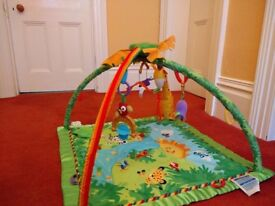 Fisher price rainforest jungle lights and sounds playmat
