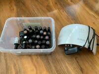 Sun uv lamp and various gel nail polishes