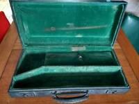 Vintage velvet lined TRUMPET hard CASE