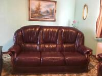 High quality leather suite 3+ 1+1