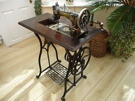 1930s sewing machine and table Frister and Rossman