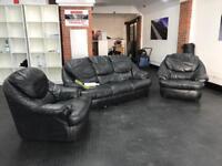 LEATHER SOFA - Real Leather BARGAIN