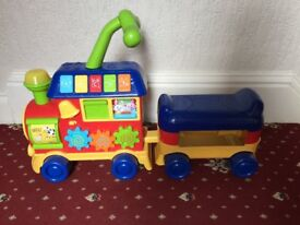 Baby Walker Sit and Ride Learning Train