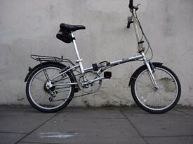 Folding/ Commuter Bike by Phillips, Silver, Compact, 6 Speed, JUST SERVICED, CHEAP PRICE!!!!!!!!!!!