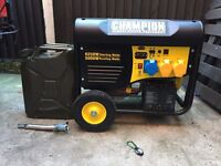 Champion 6.25 Kva Generator with Remote Start/Stop nearly new £550
