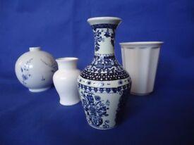 4 Small China vases