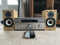 Denon hifi stereo system for sale with CD/DVD player and speakers