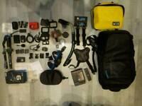 Gopro Hero 6 Black, Gopro Seeker Backpack, Vlog Kit, Pole , Accessories, Remote, SD, Battery etc