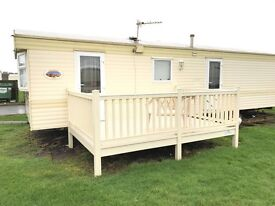 Cheap Static Caravan With Brand New Decking For Sale At Sandylands Near Wemyss Bay