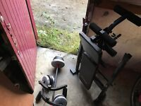 York Weights Bench with extra weights ,ankle weights etc