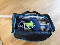 Kids cricket equipment, barely used, excellent condition