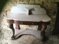 Large Period Marble Wash Stand MUST GO !