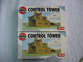 Airfix Airfield Control Tower X2, Emergency Set, Recovery Set and Britol Bloodhound missile set