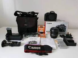 Canon 500d 18-55mm bundle with extras