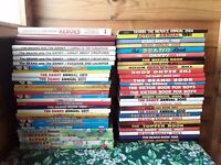 Jot Lot of 58 Childrens Annuals - Beano Dandy Rupert Topper Victor & More