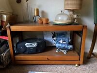 Old fashioned tea trolly converts to side table (extendable)