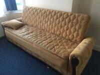 Sofa bed + 2 sofa seats + armchair