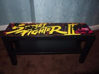 2 PLAYER ARCADE TABLE WITH ARTWORK INC. 1000's OF MAME, NES, SNES, MASTER SYSTEM & MEGADRIVE GAMES