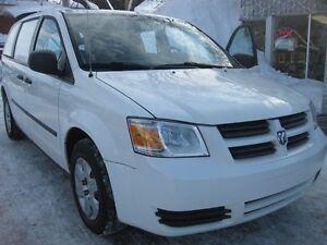 2010 Dodge Caravan C/V, p/w p/l. a/c cargo, windowless rear carg