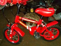 As new childs bicycle duplicate present