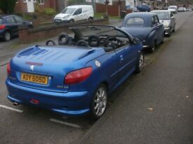 reduced price peugeot 206 cc tax, test and insured . in daily use