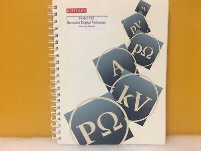 Keithley 182-901-01 Model 182 Sensitive Digital Voltmeter Instruction Manual