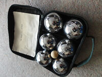 Set of Boules in canvas carry bag