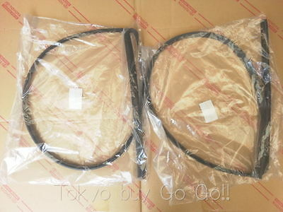 Toyota Corolla cp AE86 Front Roof Side Rail Weatherstrip set NEW Genuine Parts