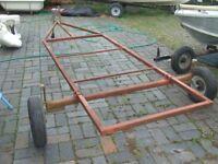 Boat trailer farm box trailer base