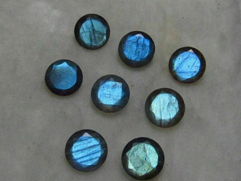 Natural LABRADORITE 3X3 mm To 10X10 mm Round faceted cut Loose Gemstone big mix