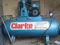 CLARKE AIR COMPRESSOR 10.2 BAR LITTLE USED
