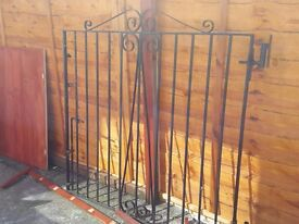 Double metal garden/drive gates
