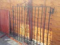 Double metal garden/drive gates